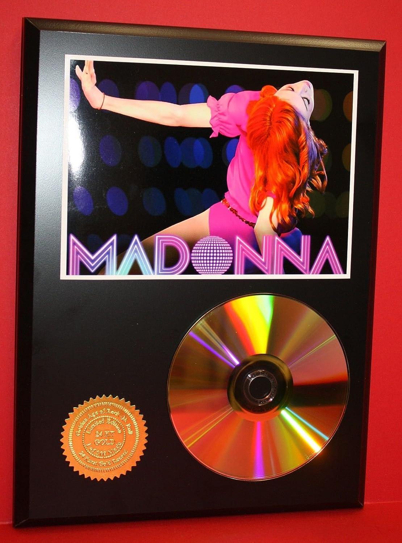 MADONNA 24kt GOLD CD/DISC COLLECTIBLE RARE AWARD QUALITY PLAQUE