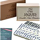 Jaques of London Dominoes - Club Double Nine Dominoes Set in Wooden Lid Slide D9 Box