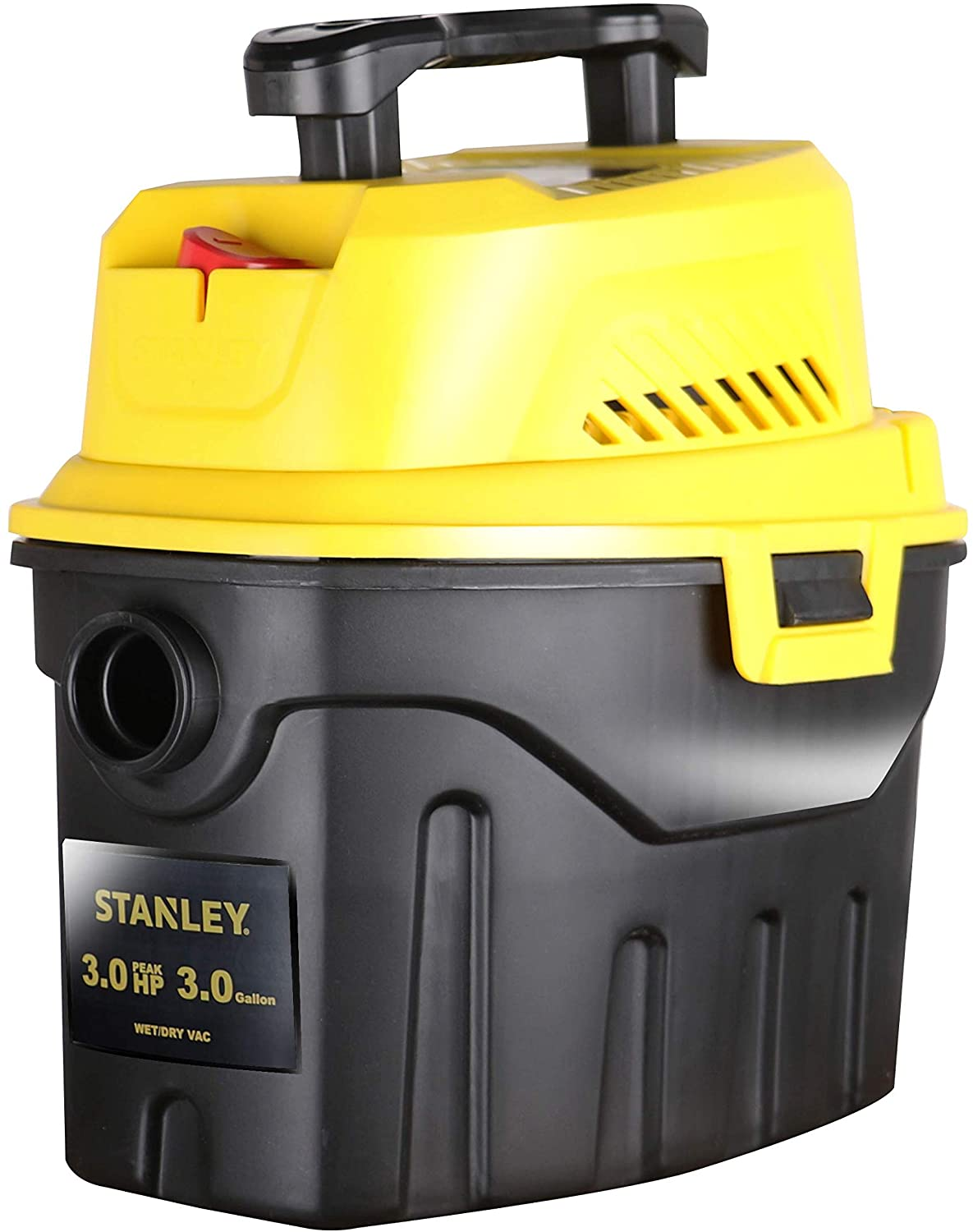 Stanley SL18910P-3 Wet/Dry, 3 Gallon, 3 Horsepower, Portable Car Vacuum, 3.0 HP AC, Black