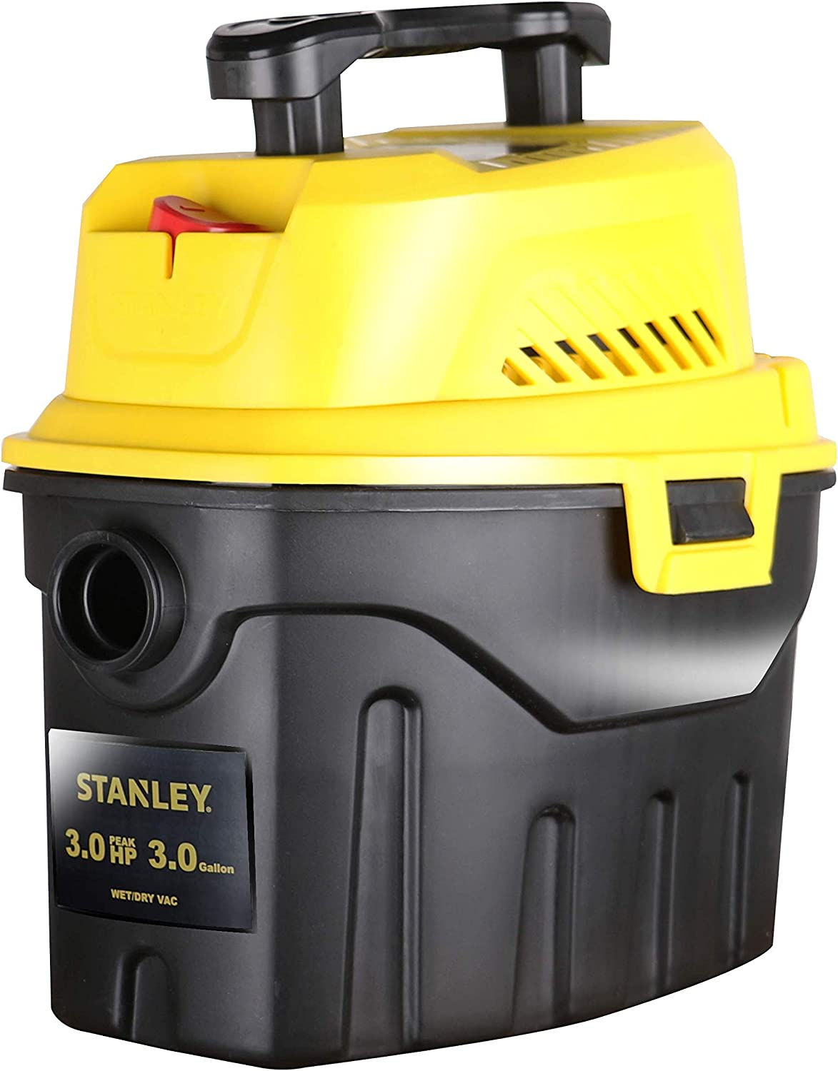 Stanley SL18910P-3 Wet Dry, 3 Gallon, 3 Horsepower, Portable Car Vacuum, 3.0 HP AC, Black