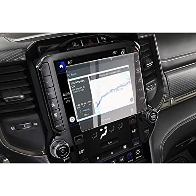 CDEFG Car Screen Protector Center Control Navigation Touch Screen Protector for 2020 Dodge RAM 1500 Big Horn/Rebel/Laramie Uconnect, Tempered Glass HD Scratch Resistance (for 2020 Dodge RAM 8.4 inch)