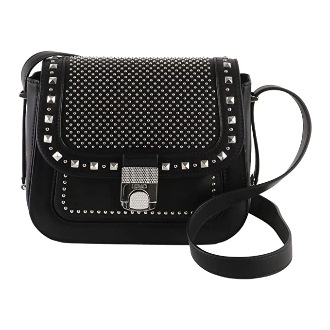LIU JO N68030 E0001 Borsa a tracolla Donna Nero TU  Amazon.it  Scarpe e  borse 8c529bee98b