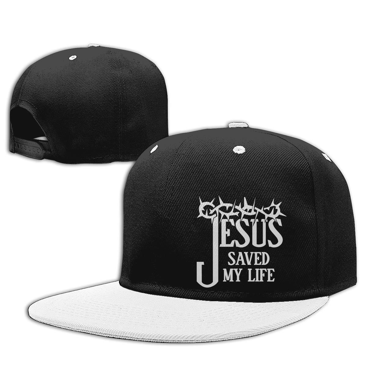 FGGfgg Jesus Saved My Life Pattern Print Adjustable Hip Hop Baseball Cap Visor Adult Baseball Cap