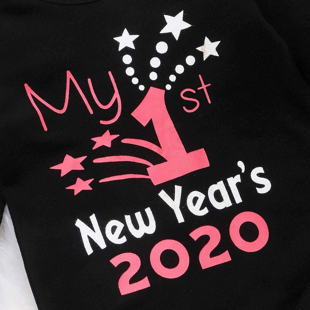 Plot Baby M/ädchen Kleidung Set Weihnachten Outfits Strampler mit R/öckchen und Stirnband 3 St/ücke 2020 My 1st New Year Overall Prinzessin T/üt/ü Rock Kleid M/ädchen Festlich