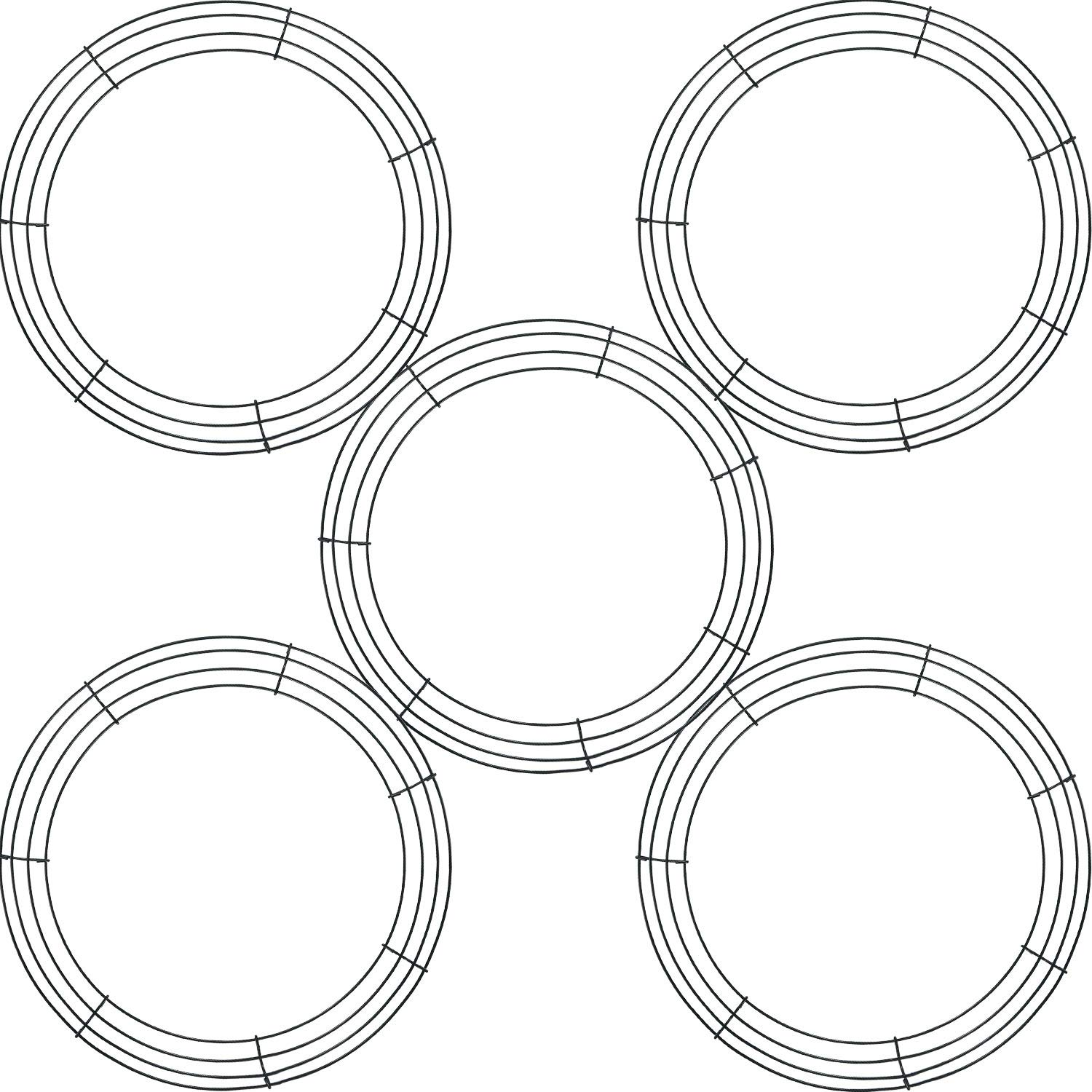 Details about 5 Pieces Metal Wreath Frame Ring Round DIY Macrame Floral on