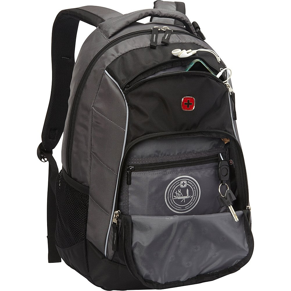 bfd890f5ff91 Amazon.com  SwissGear Lightweight Laptop Backpack with Phone and Water  Bottle Pocket (SA1758)  Computers   Accessories