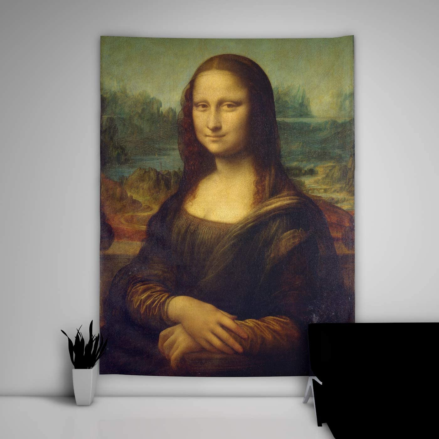 unbrand Mona Lisa Tapestry Art Wall Hanging Sofa Table Bed Cover Mural Beach Blanket Home Dorm Room Decor Gift