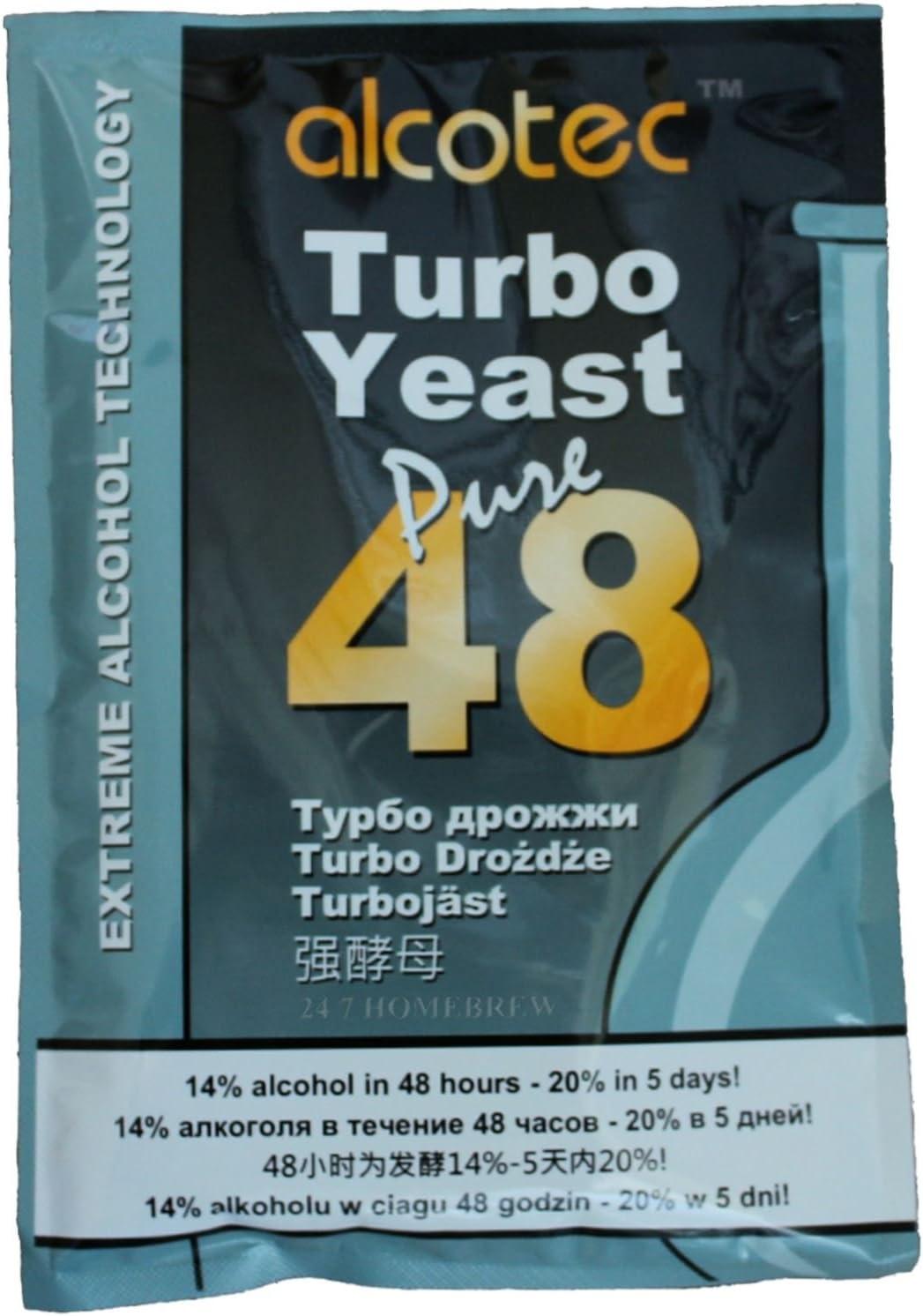 Alcotec 48 Pure Turbo Super Lievito Pacchetti Alcool 20/% Vodka