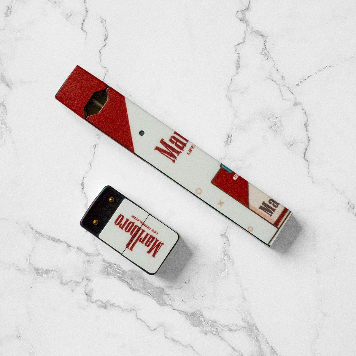 2 Pack - Togolo Vinyl Skin Wrap Sticker Decal Covers Compatible with JUUL -  Marlboro