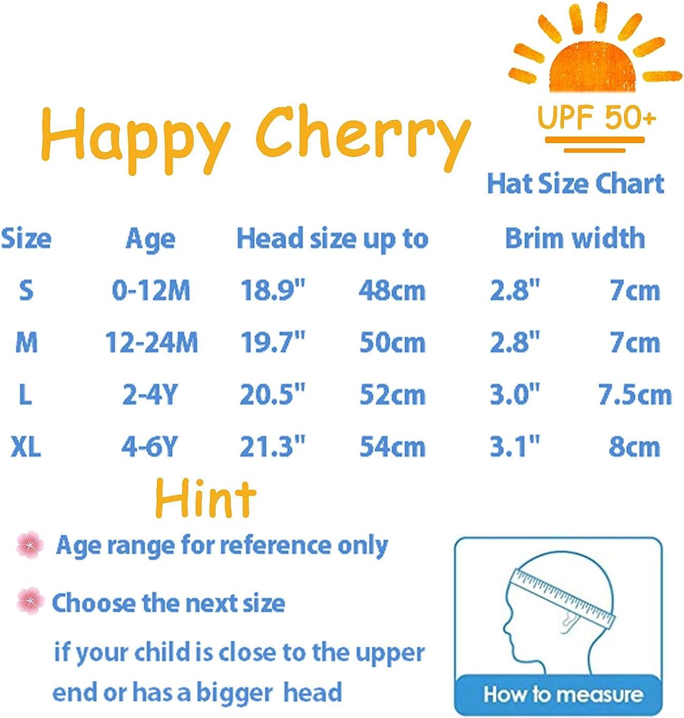 Happy Cherry Baby Breite Krempe Sonnenhut Kleinkind UV Schutz Fisherhut M/ädchen Bowknot Sommerm/ütze