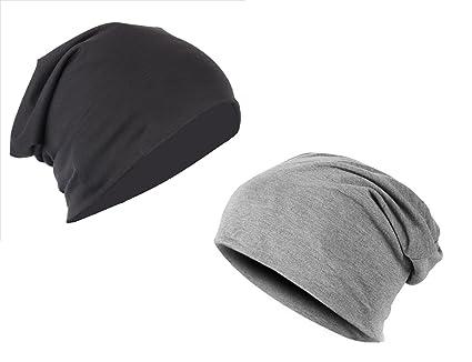 4d93ea3ce71 Gajraj Unisex Cotton Slouchy Beanie (Pack of 2)  Amazon.in  Sports ...