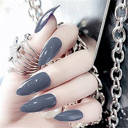 BloomingBoom 24Pcs Falsa Uña Completo Manicura Nail Art Tips ...