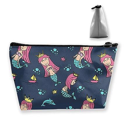 174a5222dfcd Amazon.com: Cosmetic Bag Mermaid Princess Multifunction Portable ...