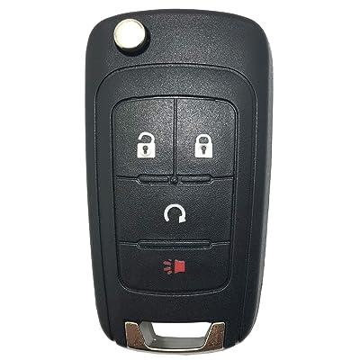 Replacement Keyless Entry Flip Folding Remote Key Fob Case Cover fit for 2010 2011 2012 2013 2014 Chevy Chevrolet Camaro Cruze Malibu Equinox Sonic Impala OHT01060512 Key Fob Shell: Automotive
