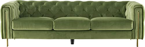 Acanva Luxury Chesterfield Vintage Tufted Velvet Living Room Sofa