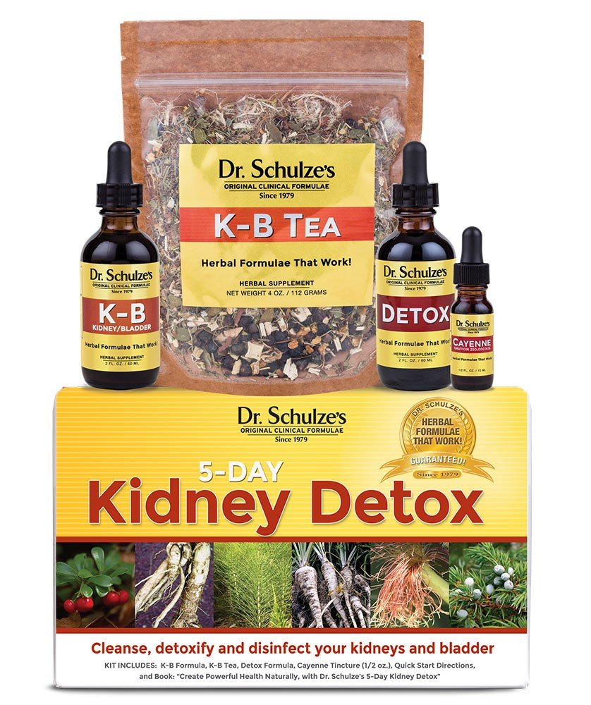 Dr. Schulze's | 5-Day Kidney Detox | Natural UTI Remedy | Cleanses & Disinfects Bladder | Herbal Dietary Supplement | Weight Loss Aid | Dissolve Deposits & Kidney Stones | Support Urinary Tract Health