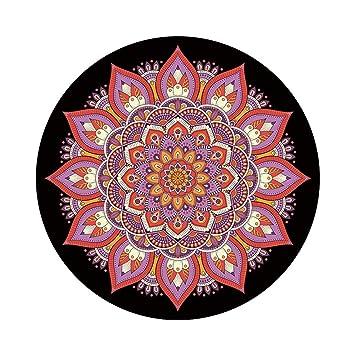 FELICIOO India Mandala Ronda Estera de Yoga Impreso Caucho ...