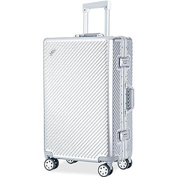 Amazon.com | Flieks Aluminium Frame Luggage TSA Approved Suitcase ...