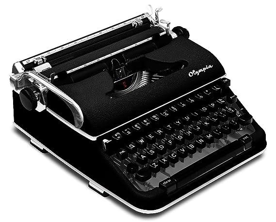 restored * RAROS * Negro 1960 Olympia SM4 S (firma) Vintage Portátil Manual Máquina de escribir con funda (cvt-776) similar a Olympia SM3 de Luxe: ...