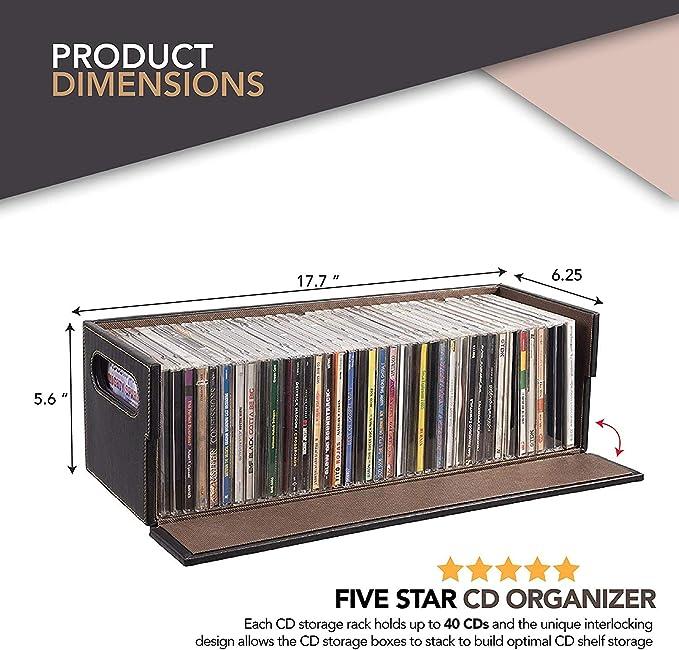Heineken Music CD Storage Stand 30 Standard Jewel Holder NIB