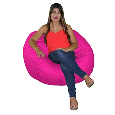 Cozy Sack, SM-CBB-HOTPINK, Small Cozy Foam Bean Bag Chair, HOTPINK