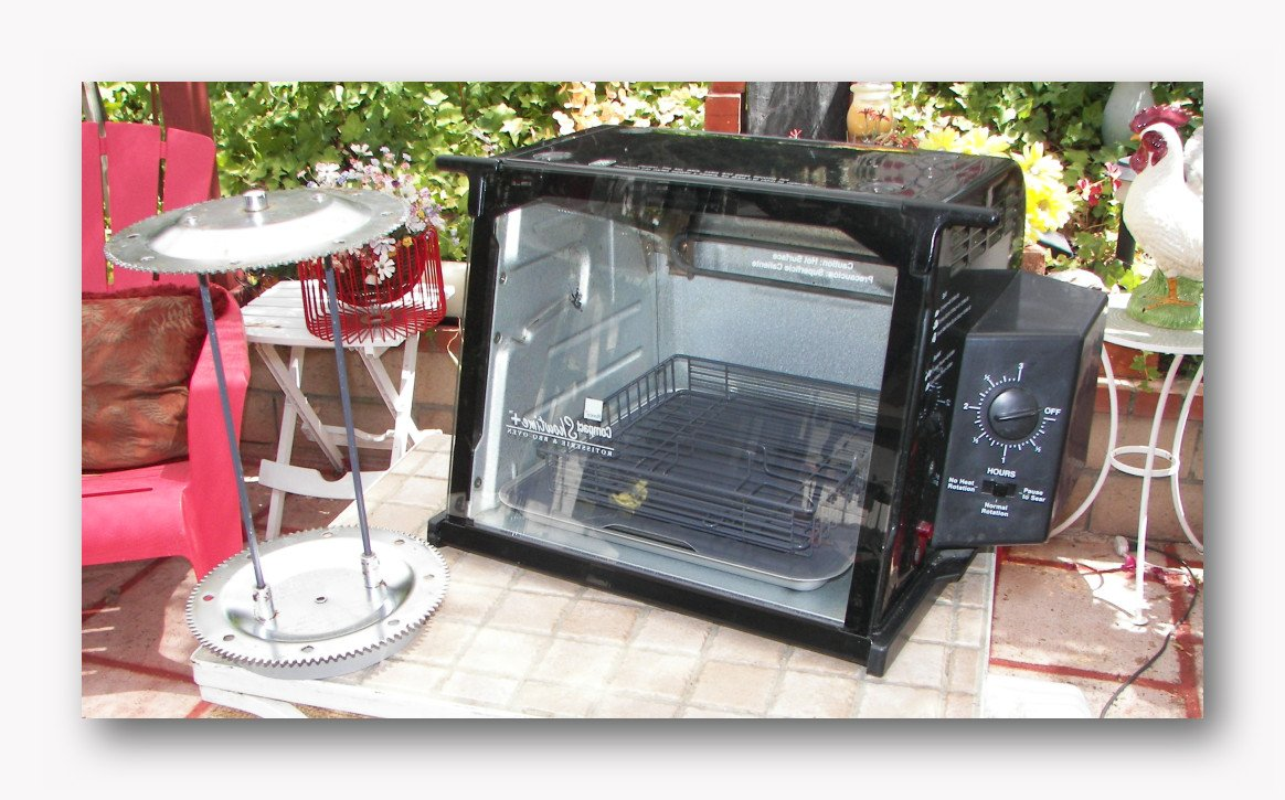 RONCO SHOWTIME COMPACT ROTISSERIE & BBQ OVEN - BLACK - MODEL 3000TB