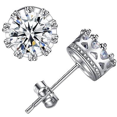 1e76405f2 Womens Earrings High Quality Fine Jewellery Zirconia Diamond 925 Sterling  Silver Stud Bride for Lady Girl