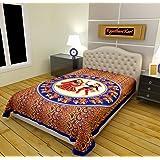 RajasthaniKart 144 TC Cotton Single Bedsheet - Abstract, Red