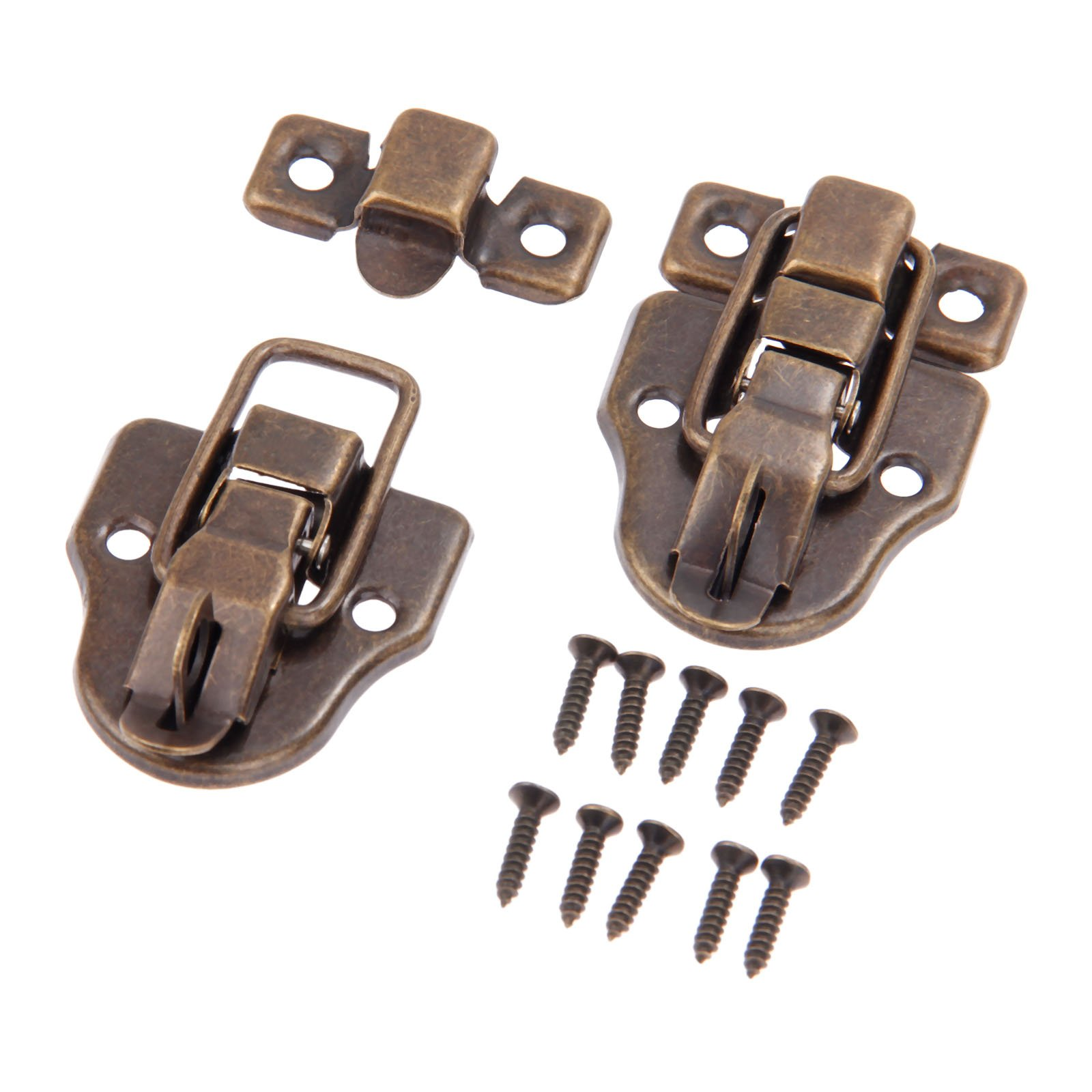 Dophee 10Pcs 2.32''x1.57'' Antique Bronze Retro Style Iron Toggle Fit Case Box Chest Trunk Latch Hasps by dophee (Image #3)