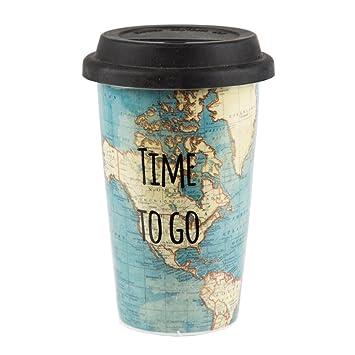 Time To Go Travel Mug Amazon Co Uk Kitchen Home