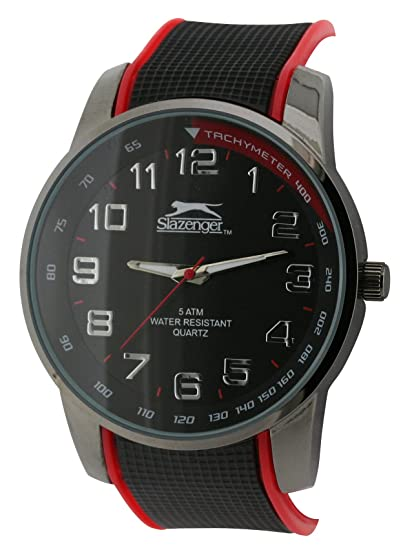 SLAZENGER SLZ190/A - Reloj analógico de cuarzo para hombre, correa de plástico color negro: Amazon.es: Relojes