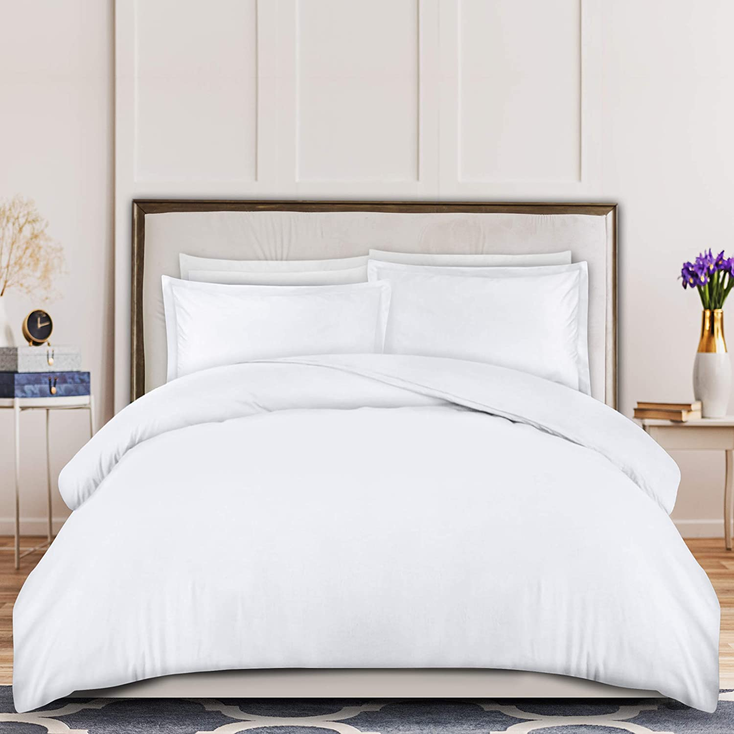 Amazon Com Utopia Bedding 3 Piece Duvet Cover Set 1 Duvet Cover With 2 Pillow Shams Comforter Cover With Zipper Closure Soft Brushed Microfiber Shrinkage Fade Resistant Easy