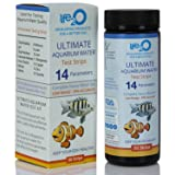 ULTIMATE 14-in-1 Aquarium Test Kit with Trace Heavy Metals | 50 Water Testing Strips for Fresh-Water or Salt-Water Aquarium, Fish-Tank, Reef & Pond | Alkalinity, pH, Nitrate, Carbonate Hardness & More