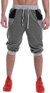 MODCHOK Men's 3/4 Jogger Capri Pants Sport Shorts Elastic Sweatpants Running Trouser with Pockets
