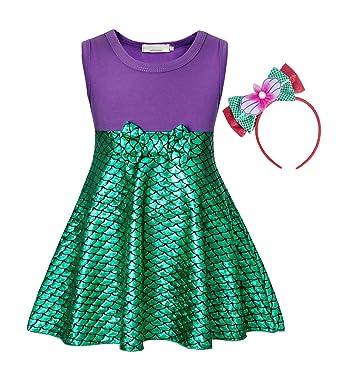 Amazon.com: AmzBarley - Disfraz de princesa Ariel para ...