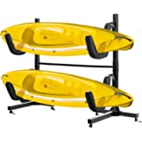 VIVOHOME Heavy Duty Freestanding Dual Storage Rack Height Adjustable Carrier Stand for Kayaks SUP Paddle Boards and…