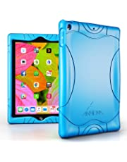Armera iPad 9.7 2018 2017 Case - [Wave Bumper Series] Light Weight Anti Slip Kids Friendly Shock Proof Silicone Protective Cover for iPad 6th / 5th Gen, Blue