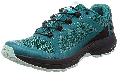 31cc0390fbfa Salomon Women s XA Elevate Trail Running Shoes Deep Lake Black Eggshell  Blue 5