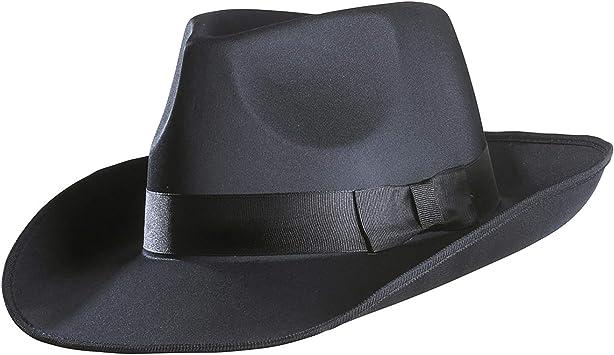 Cappello da gangster mafia moonwalk , borsalino, colore nero, widmann- universale, 2487g