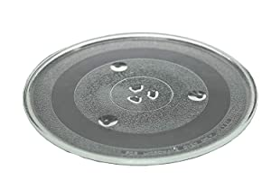Glass Tray Turntable Plate 12 3/8 inch (315mm) P34 Compatible with Emerson & Sanyo Microwave by What'sUp?