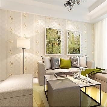 Schlicht Und Einfach Aus Tapete Wohn   Und Schlafzimmer Fernsehen  Hintergrund Mauer Streifen Tapete Beige Wallpaper