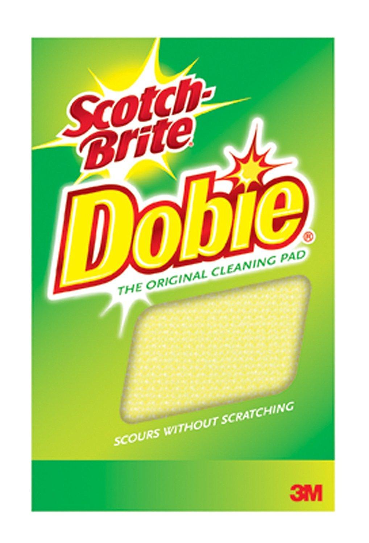 Scotch-Brite Dobie All Purpose Cleaning Pad 720, 4.3'' Length x 2.6'' Width x 1/2'' Thick, (Case of 24) by Scotch-Brite