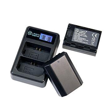 PHOTO MASTER 2X NP-FZ100 Batería (2280mAh) y LCD Doble Cargador para for Sony A7R IV, Sony A7RIII, Sony A7 III, Sony A7R3, Sony 7RM3, Sony a6600, ...