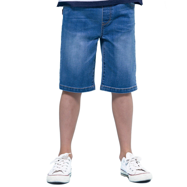 Leo/&Lily Boys Kids Elastic Waist Regular Fit Stretch Denim Shorts Husky Jeans LLB787-Parent