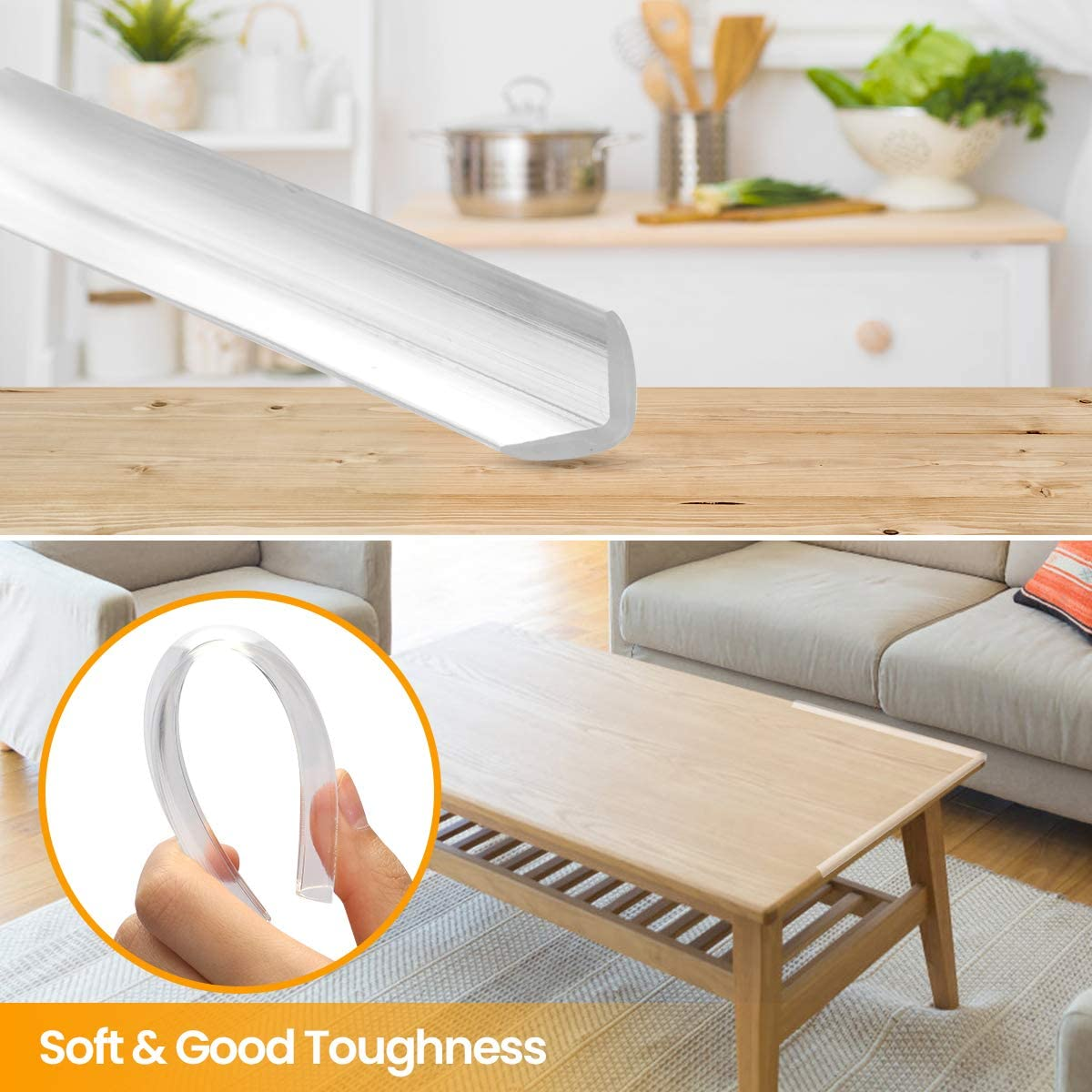 Safe Edge /& Corner Cushion Clear Pre-Taped Corners Table Protectors KIDDYz Transparent Baby Proofing Edge /& Corner Guards Child Safety Furniture Bumper