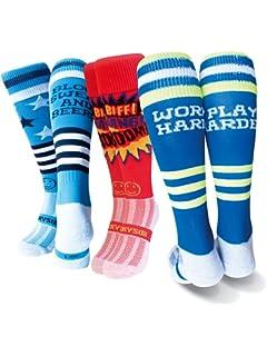Wacky Sox Trois paires de chaussettes de Sports Shallakka Boom dégriffés 06035b1c0bb