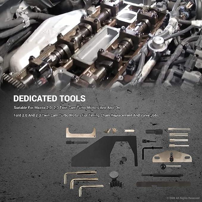 Amazon.com: EWK Engine Timing Belt Correcting Replacing Tool Kit for Ford Mazda: Automotive