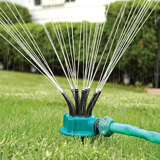 Hangang Sprinkler Jardín Ajustable y Rociador De Césped, Sistema ...