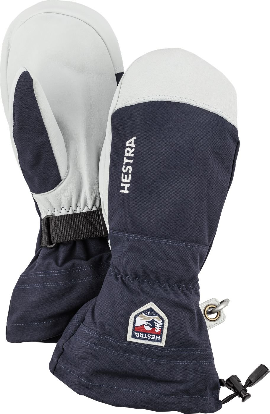 Hestra Mens and Womes Ski Gloves: Army Leather Wind-Proof Water ResisTant Winter Mitten, Black, 11 by Hestra