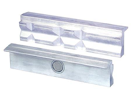 mit Magnet ausgestattet Schraubstock Schutzbacken Aluminium 2 Strück 125mm